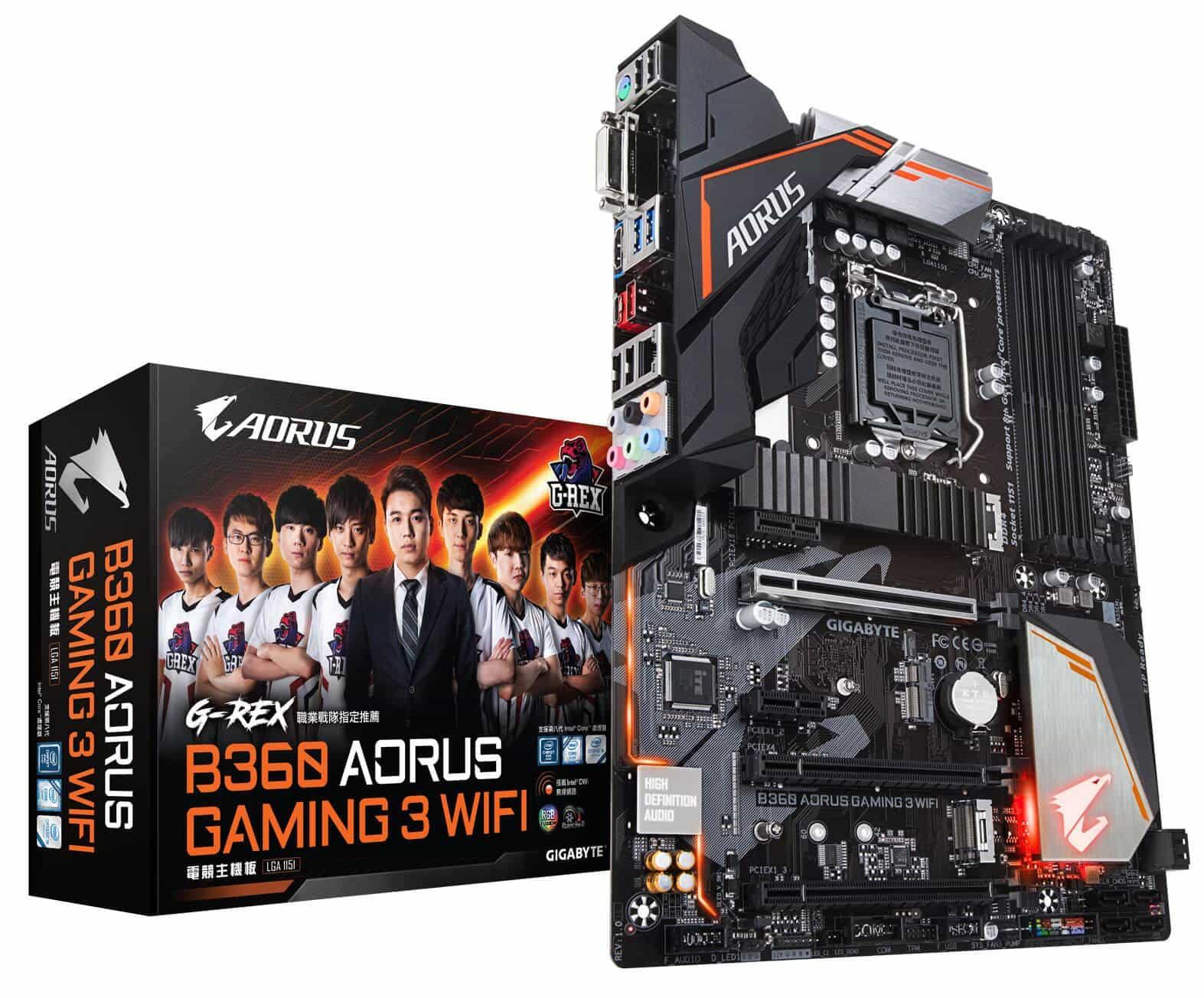 技嘉 b360 aorus gaming 3 wifi g rex 戰隊 版