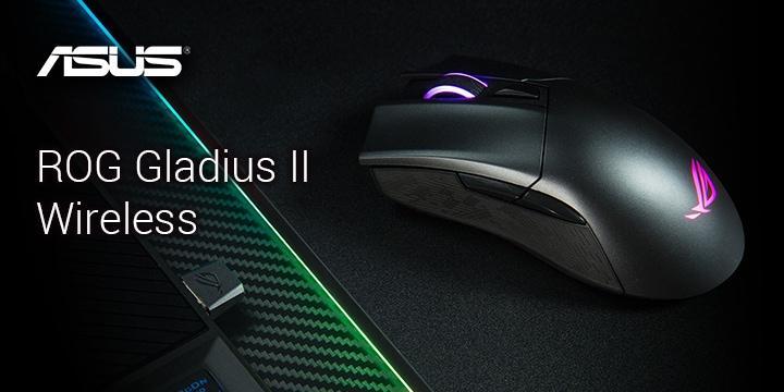 無線雙模 ASUS ROG Gladius II Wireless 電競滑鼠開箱 / 微動可換升級 16K 光學感應
